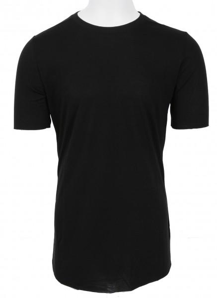 Thom Krom Silk T-Shirt Black