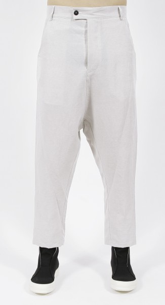 Nostra Santissima Linen Dropped Crotch Pants White