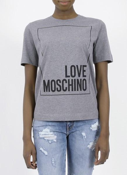 Love Moschino Logo Shirt Grey