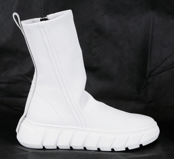 Puro Secret Puro Rubber Spike Boots Woman White
