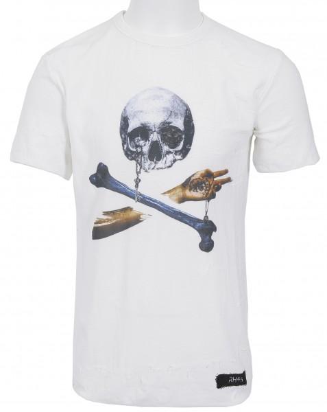 RH45 Knitted Skull T-Shirt Off White