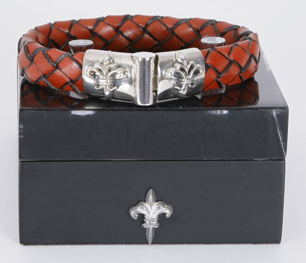 Elfcraft Armband Lilie Rot